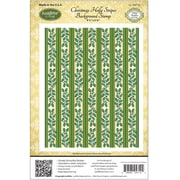 "Justrite® Papercraft 4 1/2"" x 5 3/4"" Background Cling Stamp, Christmas Holly Stripes"