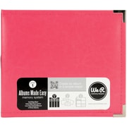 We R Memory Keepers™ Classic Leather 3-Ring Photo Album, 8 x 8, Strawberry