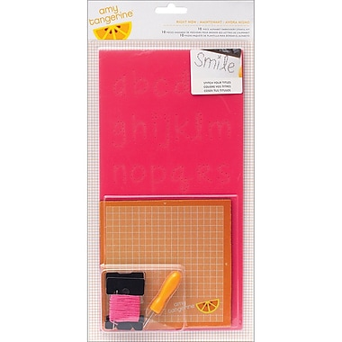 American Crafts™ Cut & Paste Embroidery Stencil Kit, Right Now Alphabet