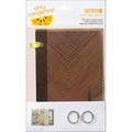 American Crafts™ Cut & Paste 2-Ring Cardstock Daybook, Noted