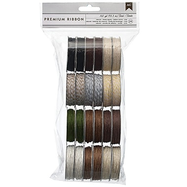 American Crafts™ Twine Assortment 12 Natural Colors Value Pack, 24/Pack