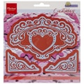 Ecstasy Crafts® Marianne Designs Collectables 6in. x 6in. Die, Petra's Heart & Corners