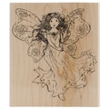 Penny Black® 4in. x 4 1/2in. Mounted Rubber Stamp, Winged Fairy