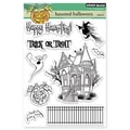 Penny Black® 5in. x 6 1/2in. Clear Stamp Sheet, Haunted Halloween