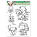 Penny Black® 5in. x 6 1/2in. Clear Stamp Sheet, Mimi & Friends