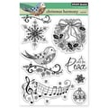 Penny Black® 5in. x 6 1/2in. Clear Stamp Sheet, Christmas Harmony