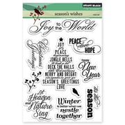 "Penny Black® 5"" x 6 1/2"" Clear Stamp Sheet, Season's Wishes"