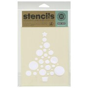 "Hero Arts® 6 1/2"" x 5 1/2"" Stencil, Circle Christmas Tree"