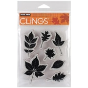 "Hero Arts® 5"" x 6 1/2"" Cling Rubber Stamp Sheet, Scattering Leaves"