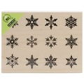 Hero Arts® 3 1/4in. x 4 1/4in. Wood Mounted Rubber Stamp, Snowflake Sampler