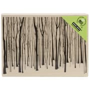 """Hero Arts® 2 3/4"""" x 4"""" Wood Mounted Rubber Stamp, Winter Trees Pattern"""