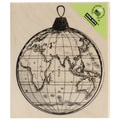 Hero Arts® 4in. x 3in. Wood Mounted Rubber Stamp, World Ornament