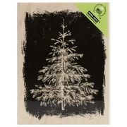 "Hero Arts® 4 1/4"" x 3 1/4"" Wood Mounted Rubber Stamp, Winter Evergreen"