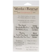 """Words To The Rescue 8"""" x 4 1/2"""" Clear Stamp Set, Christmas 2"""