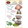 Justrite® Papercraft 4in. x 6in. Clear Stamp Set, Frog & Water Lily