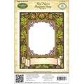 Justrite® Papercraft 4 1/2in. x 5 3/4in. Background Cling Stamp, Floral Harvest