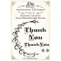 Something Tattered™ 4in. x 4in. Clear Photopolymer Cling Stamp Set, Thank You Filigree