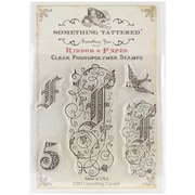 "Something Tattered™ 4"" x 4"" Clear Monogram Photopolymer Cling Stamp Set, G Initial"