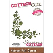 "CottageCutz® Elites 2 1/2"" x 2 1/2"" American Steel Die, Harvest Fall Corner"
