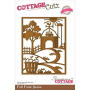 "CottageCutz® Elites 3 1/2"" x 4 1/2"" American Steel Die, Fall Farm Scene"