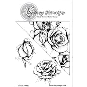 "Stacy Stamps 2 1/4"" x 2 3/4"" Mounted Cling Rubber Stamp, Roses"