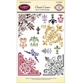 Justrite® Papercraft 4in. x 6in. Clear Stamp Set, Ornate Corners