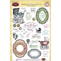 Justrite® Papercraft 6in. x 8in. Five Clear Stamp Set, Bundle Of Joy Vintage Labels