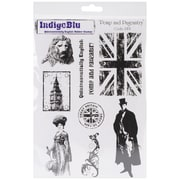 "IndigoBlu 9 1/4"" x 6 1/4"" Mounted Cling Rubber Stamp, Pomp & Pageantry"