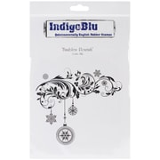 "IndigoBlu 9 1/4"" x 6 1/4"" A6 Mounted Cling Rubber Stamp, Baubles Flourish"