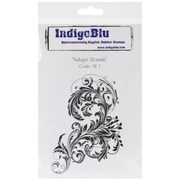 """IndigoBlu 7"""" x 4 3/4"""" Mounted Cling Rubber Stamp, Wishing You A Merry Christmas"""