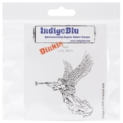 """IndigoBlu 3"""" x 3"""" A7 Mounted Cling Rubber Stamp, Angel Dinkie"""