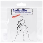 "IndigoBlu 3"" x 3"" Mounted Cling Rubber Stamp, Snowman Dinkie"