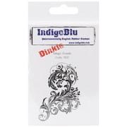 "IndigoBlu 3"" x 3"" Mounted Cling Rubber Stamp, Vintage Flourish Dinkie"