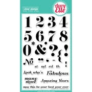 """Avery Elle 4"""" x 6"""" Clear Photopolymer Stamp Set, Count On It"""