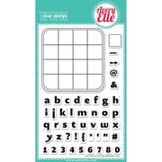Avery Elle 4 x 6 Clear Photopolymer Stamp Set, Fun With Letters