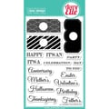 Avery Elle 4in. x 6in. Clear Photopolymer Stamp Set, All Occasion Tags