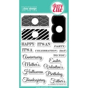 Avery Elle 4 x 6 Clear Photopolymer Stamp Set, All Occasion Tags