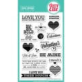 Avery Elle 4in. x 6in. Clear Photopolymer Stamp Set, Lots Of Love