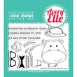 Avery Elle 4in. x 3in. Clear Photopolymer Stamp Set, Hipster, Potamus