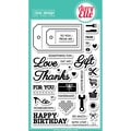 Avery Elle 4in. x 6in. Clear Photopolymer Stamp Set, Simply Everyday Tags