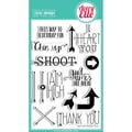 Avery Elle 4in. x 6in. Clear Photopolymer Stamp Set, Aim High