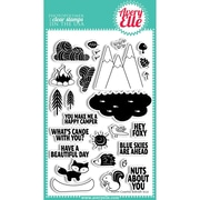 """Avery Elle 4"""" x 6"""" Clear Photopolymer Stamp Set, Happy Camper"""