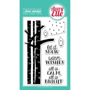 """Avery Elle 4"""" x 6"""" Clear Photopolymer Stamp Set, Let It Snow"""