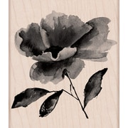 """Hero Arts® 4"""" x 3"""" Wood Mounted Rubber Stamp, Painted Flower"""
