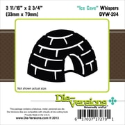 """Die-Versions® Whispers 3.687"""" x 2.75"""" Die, Ice Cave"""