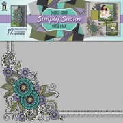 "Hot Off The Press Simply Susan Paper Pack, 12"" x 12"", 12 Sheets"