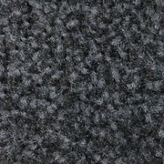 Andersen Colorstar Plush Nylon Indoor Wiper Mat, 4' x 8', Midnight Gray with Cleated Backing