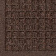 "Andersen Waterhog Fashion Polypropylene Cleated Backing Indoor Mat 96"" x 72"", Dark Brown"