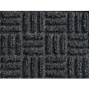 "Andersen Waterhog Masterpiece Polypropylene Cleated Backing Indoor Mat Wiper Mat 120"" x 36"", Black"
