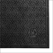 "Andersen Supersrape Eco Rubber Indoor Mat 36"" x 24"", Black"
